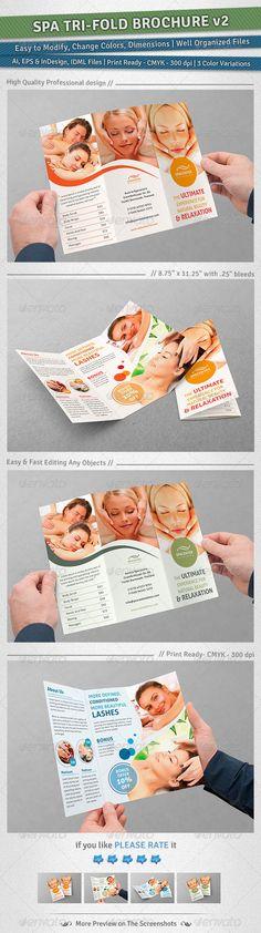 Spa Tri-Fold Brochure | Volume 2 — EPS Template