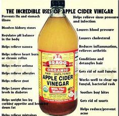 Raw apple cider vinegar. I always have it in the fridge.