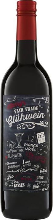 Leckerer Bio-Glühwein aus fairem Handel aus Rotwein vom Weingut Stellar Organics. Genießen Sie ihn zusammen mit Freunden, wenn es draußen richtig kalt ist.