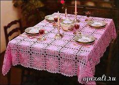 Crochet y dos agujas: Mantel al crochet realizado con grannys