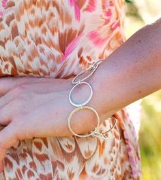 Hammered Silver Circle Bracelet