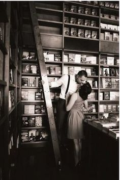 Photography by: Simply Captivating Library engagement pic