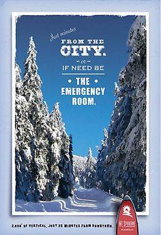 Oregon Tourism, Mt Rose, Destination Branding, Welcome Banner, Travel Ads, Best Ads, Print Ads, Banner Design, Skiing