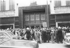 May 2, 1952: 1,200 retail employees – most of them women – begin a strike at Dupuis Frères, a major department store in Montréal, Canada, when negotiations with management reach a standstill nearly two years after trying to get a first contract. The strike lasted for three months until the store's manager was replaced with someone willing to negotiate with the union. Department Store, Old Pictures, May, Photos, Management, Street View, Retail, Montreal Canada, Centre