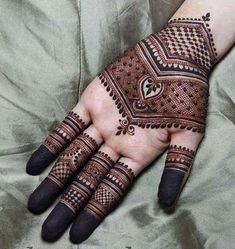 Find images and videos about mehndi designs, henna designs and henna love on We Heart It - the app to get lost in what you love. Henna Hand Designs, Dulhan Mehndi Designs, Mehandi Designs, Mehndi Designs Finger, Palm Mehndi Design, Mehndi Designs For Girls, Stylish Mehndi Designs, Mehndi Design Pictures, Wedding Mehndi Designs