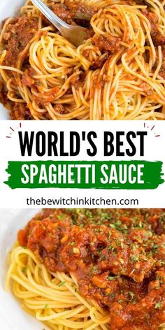 Serve up the WORLD's Best Spaghetti Sauce. This is a must make if you want an incredibly flavorful sauce to serve with your weeknight pasta. A must make, and you will agree it is incredible. #spaghetti #sauce #homemade #fromscratch #best #tomato #pastasauce Meat Recipes, Dinner Recipes, Cooking Recipes, Healthy Recipes, Sauce Recipes, Pasta Recipes, Best Spaghetti Sauce, Spaghetti Recipes, Dinner Dishes