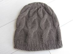 Cable Yak free beanie pattern