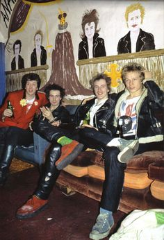 Steve Jones, Sid Vicious, Johnny Rotten and Paul Cook, Final show....The Sex Pistols at Winterland San Francisco 1978