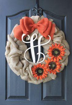 Fall Wreaths  Burlap Wreath  Etsy Wreath  Fall