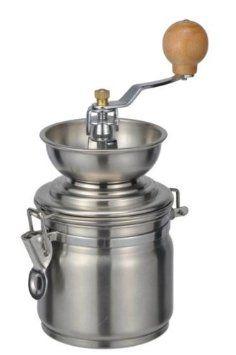 KAFFEEMÜHLE aus Edelstahl mit Keramik-Kegelmahlwerk Ø 10cm Kaffee-Mühle: Amazon.de: Küche & Haushalt