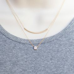 floating diamond necklace, cz necklace dainty gold  silver necklace solitaire necklace layering necklace minimalist necklace cz diamond