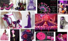 Our #wedding #inspiration board today :-)    Here is our hot pink and purple board as promised.  Combining pink with other darker colors such as purple, adds strength and sophistication to pink don't you think   We hope you like it