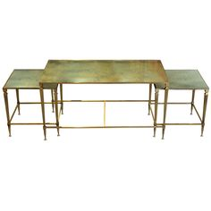Vintage Brass and Mirrored Coffee Table | From a unique collection of antique and modern coffee and cocktail tables at http://www.1stdibs.com/furniture/tables/coffee-tables-cocktail-tables/