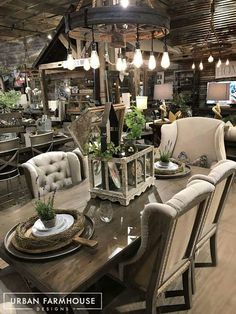 Urban Farmhouse Designs Showroom And Signature Farmhouse Tables And  Upholstery Line.