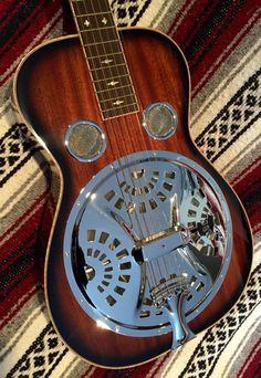 Beard Model R Dobro Resonator Square Neck Guitar 2000 Burst