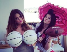Khloe and Kylie!