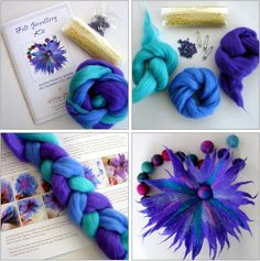 Filzen Today marks the second anniversary of FELTING matters. Two years on, and what better way to Wet Felting Projects, Needle Felting Tutorials, Needle Felted, Nuno Felting, Felt Flowers, Fabric Flowers, Felt Gifts, Fabric Jewelry, Felt Art
