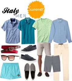 Italy Summer Clothing for Men Men's summer clothing was a hot topic on TFG's Facebook page, so we're sharing a quick visual to help you get your guys ready for a trip to Italy in the summer.