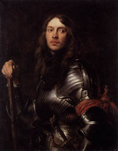 1627 - Portrait of a Man in Armour with Red Scarf - Anthony van Dyck