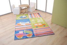 Παιδικά χαλιά Royal Kids - Royal Carpet. Γαλάζιο - λαχανί - πορτοκαλί - ροζ