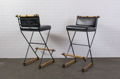 Pair of Vintage Mid-Century Bar Stools by Cleo Baldon  $1600/PAIR  MIDCENTURY MODERN FINDS