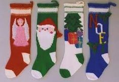 Patterns For Knitted Christmas Stockings Crochet, Carving, Patterns. Patterns For Knitted Christmas Stockings Knitted Christmas Stocking Patterns, Knitted Christmas Stockings, Knit Stockings, Christmas Knitting, Crochet Christmas, Knitting Videos, Loom Knitting, Knitting Projects, Knitting Patterns