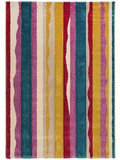 Superb benuta Teppiche Teppich Collage T rkis x cm schadstofffrei Polypropylen Reliefoptik