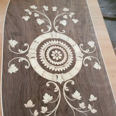 Inlaid in wood antic design Italia maggiolini