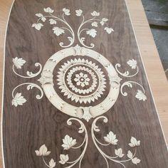 Inlaid in wood antic design Italia maggiolini