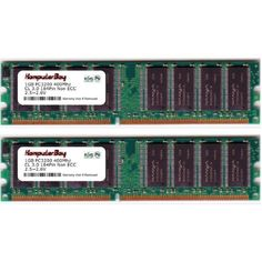 KOMPUTERBAY 2GB (2 x 1GB ) DDR DIMM (184 PIN) 400Mhz PC3200 CL 3.0 DESKTOP MEMORY by Komputerbay. $36.99. While at first glance, it may be in your best interest to shop around. Know that when you purchase RAM from Komputerbay, you're getting Grade-A brand name computer memory. Cheap computer memory, while possibly being compatible, can cause system crashes, error codes in your computer, and even damage to your motherboard! Other sellers may offer you similar looking products for...