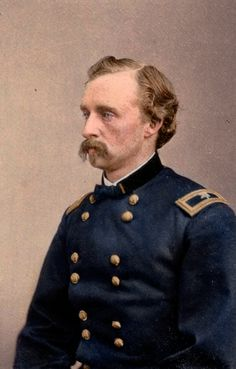 George A. Custer at the age of 23 when he was promoted to Brigadier General, earning him the nickname of the 'Boy General'