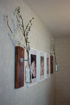 DIY: wall vases with some framed photographic art! Unique, and a conversation starter for sure! Home, Office, Restaurant!