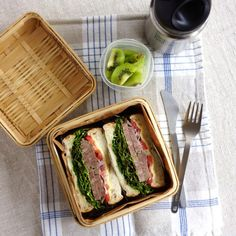 Corned beef sandwich bento・コンビーフサンドウィッチ弁当