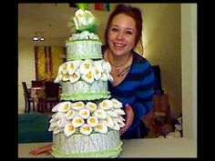 How To Make a Diaper Lily Cake - YouTube