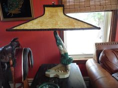 Vintage PAIR of Chalkware Plaster Dancer Lamps by MadGirlRetro