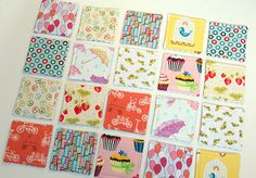 child Fabric matching game tutorial - this is so cute and great for toddlers