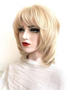 Model ANTOANETA #105-Peruca par natural mediu blond cenusiu | Peruci.ro | Peruci.ro Human Hair Wigs, Wig Hairstyles