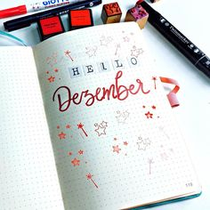 """Carolin on Instagram: """"Dezember Coverpage- sie ist bei der 10 Minuten Bulletjournal Challenge von @mein.bullet.journal entstanden. Eine Mischung aus Stickern,…"""" Diy Papier, Cover, Challenge, Mugs, Instagram, December Calendar, Ideas, Cups, Blanket"""