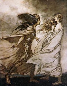 Arthur Rackham, Twilight of the Gods, 1911 (http://www.cavetocanvas.com/post/16948764081/arthur-rackham-twilight-of-the-gods-1911)