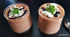 Blogul lui Cătă: Gaspacho cu iaurt, castravete, rosii si ardei Cata, Lchf, Ricotta, Low Carb, Pudding, Desserts, Blog, Gazpacho, Balsamic Vinegar