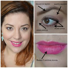 Easy Hot Pink Lip - Great for Holiday, Christmas or New Years Makeup