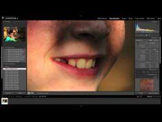 Lightroom tutorial - portret foto bewerken (pukkels verwijderen, zachtere huid, witte tanden) - YouTube