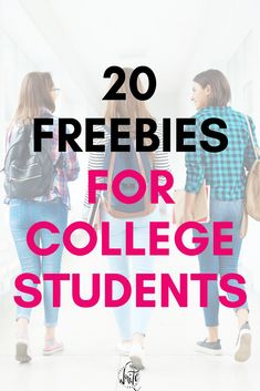 Freebies for college students - get free stuff for being a student! Includes printables, software deals, budgeting sheets, and more. #college #education