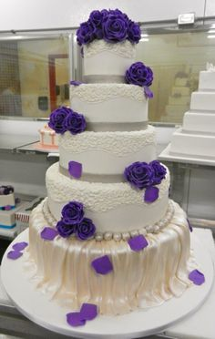 Purple detailed 5-tier