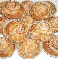 Tuovin vehnäset (Tuovin herkkupullat) Yams, Muffin, Baking, Breakfast, Desserts, Food, Morning Coffee, Tailgate Desserts, Deserts