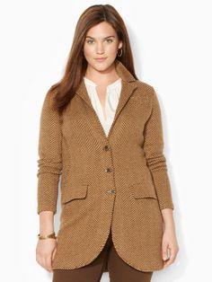 Wool-Blend Herringbone Coat - Lauren Woman Outerwear - RalphLauren.com