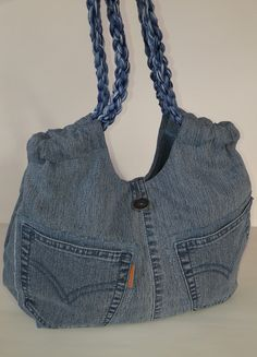 Shoulder tote bag blue denim satchel women s bag denim patchwork pouch recycled jans gift for a girl woman casual bag eco friendly upcycled – ArtofitTendance Sac 2018 : Jeans bagRecycled jeansShoulder handbagcasual denim bag forHandmade Handbag for wome Artisanats Denim, Denim Purse, Blue Denim, Denim Patchwork, Patchwork Bags, Denim Quilts, Jean Diy, Blue Jean Purses, Fabric Tote Bags