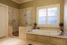 Master Bath - 6' Bain Ultra tub, her walk-in closet through door on left.