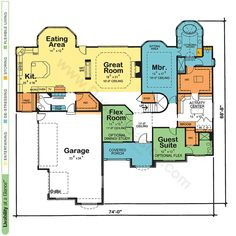 Aden 42037 - French Country Home Plan at Design Basics