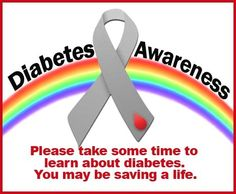 Save a life, be aware, learn about diabetes.
